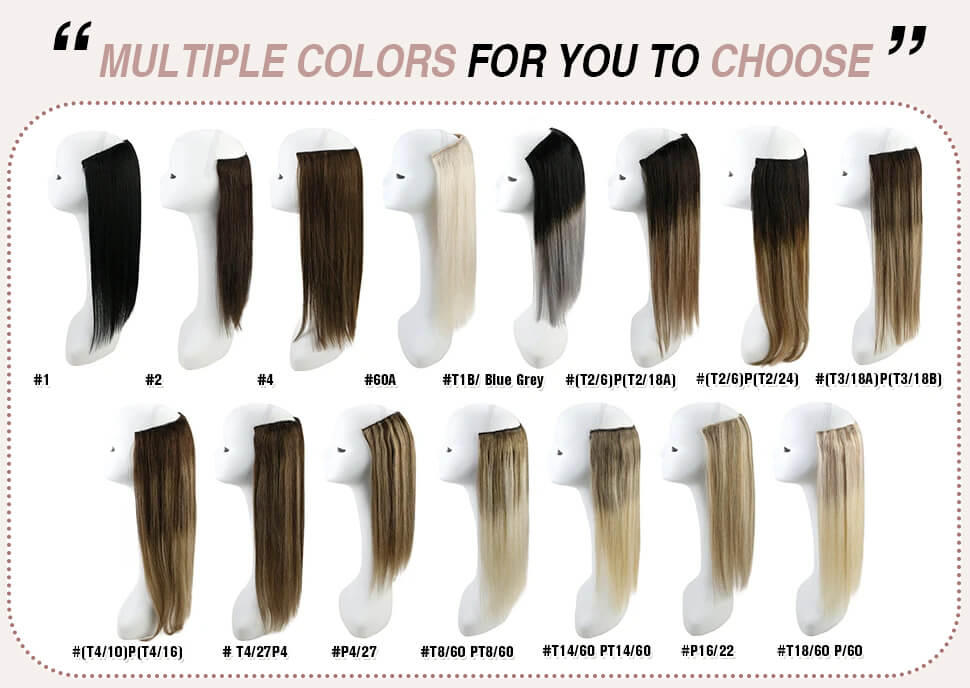 halo human hair extensions color choosing