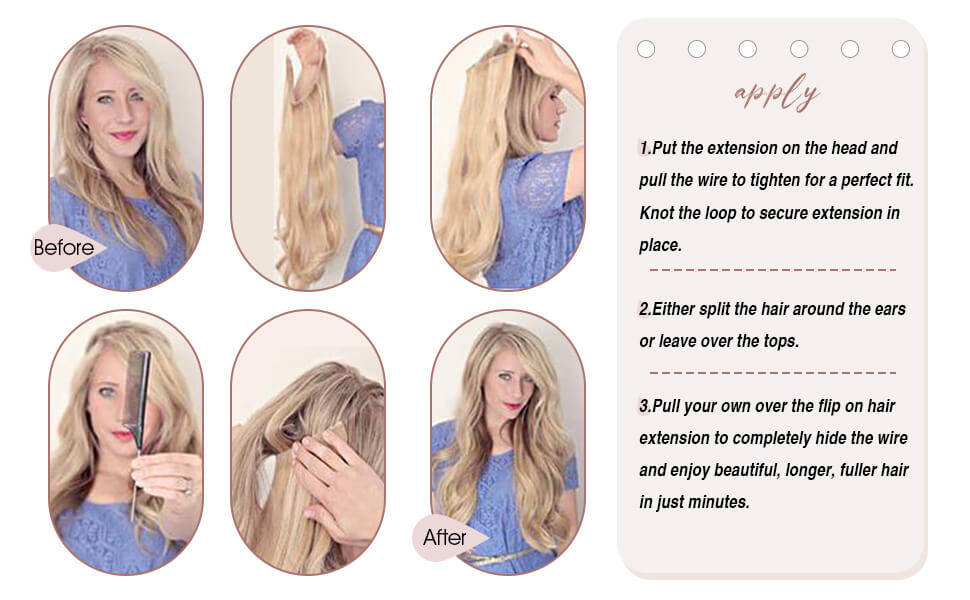 how to apply halo human hair extensions