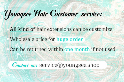 youngsee hair customer service
