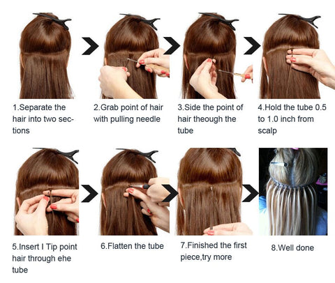 method of application about i tip hair