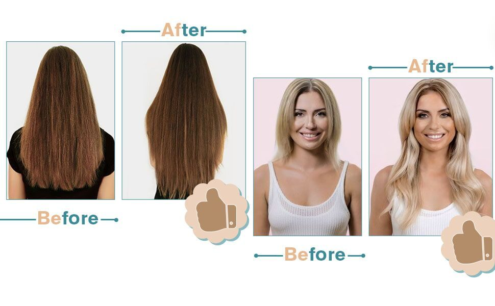before and after with weft human hair
