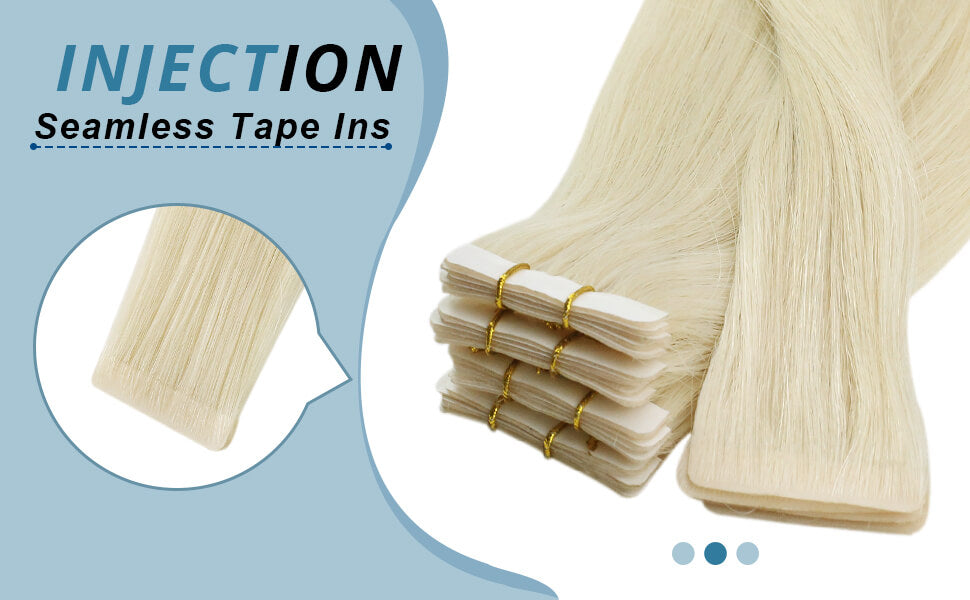 Platinum golden injections tape ins human hair