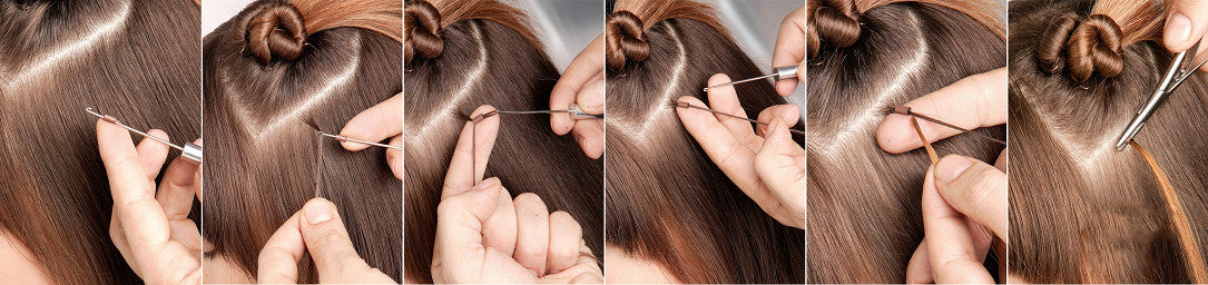 how to apply nano ring hair extensions