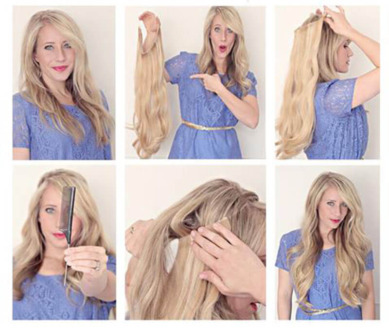 how to apply halo hair