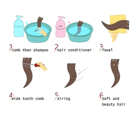 hpw to wash tape in hair