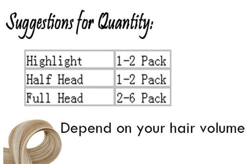 suggestions for quatity of i tip hair