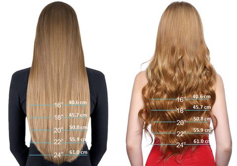the length of u tip hair extensions
