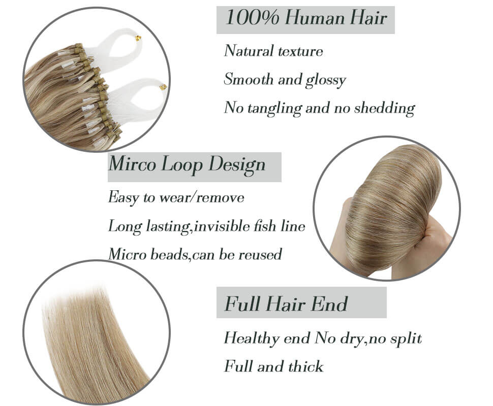 micro loop human hair extension