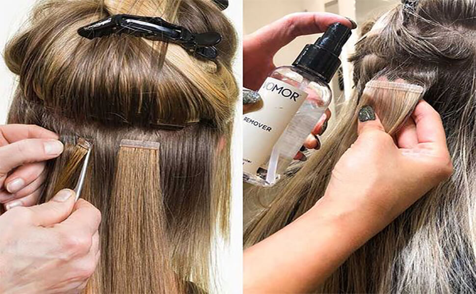 how to remove tape ins hair extensions