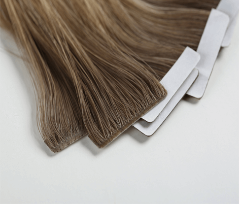 brown seamless human hair