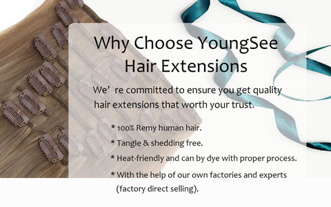 100% human hair clip in hair extensions best quanlity