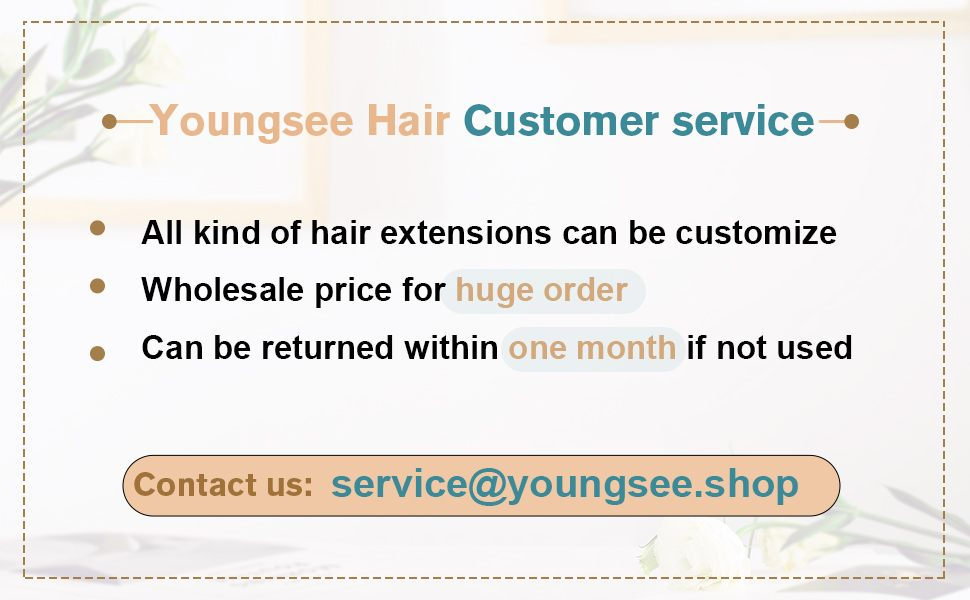 customize show human hair extensions