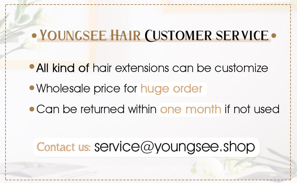youngsee hair service about hand tied human weft