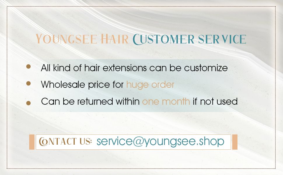 virgin hair weft customer service