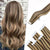 Tape in Human Hair Extensions Highlight Dark Brown with Caramel Blonde P#4/27