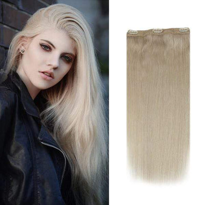 black to dark ash brown human hair clip in exte...,