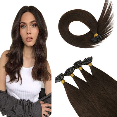 u tip human hair brown  virgin hair