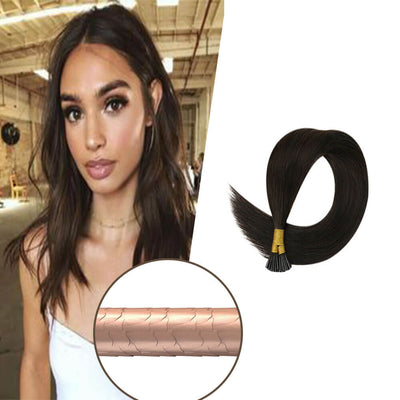 "20"" Virgin Remy Keratin Micro Ring Loop Human Hair"