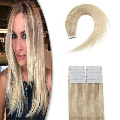 virgin tape in hair extensions ombre