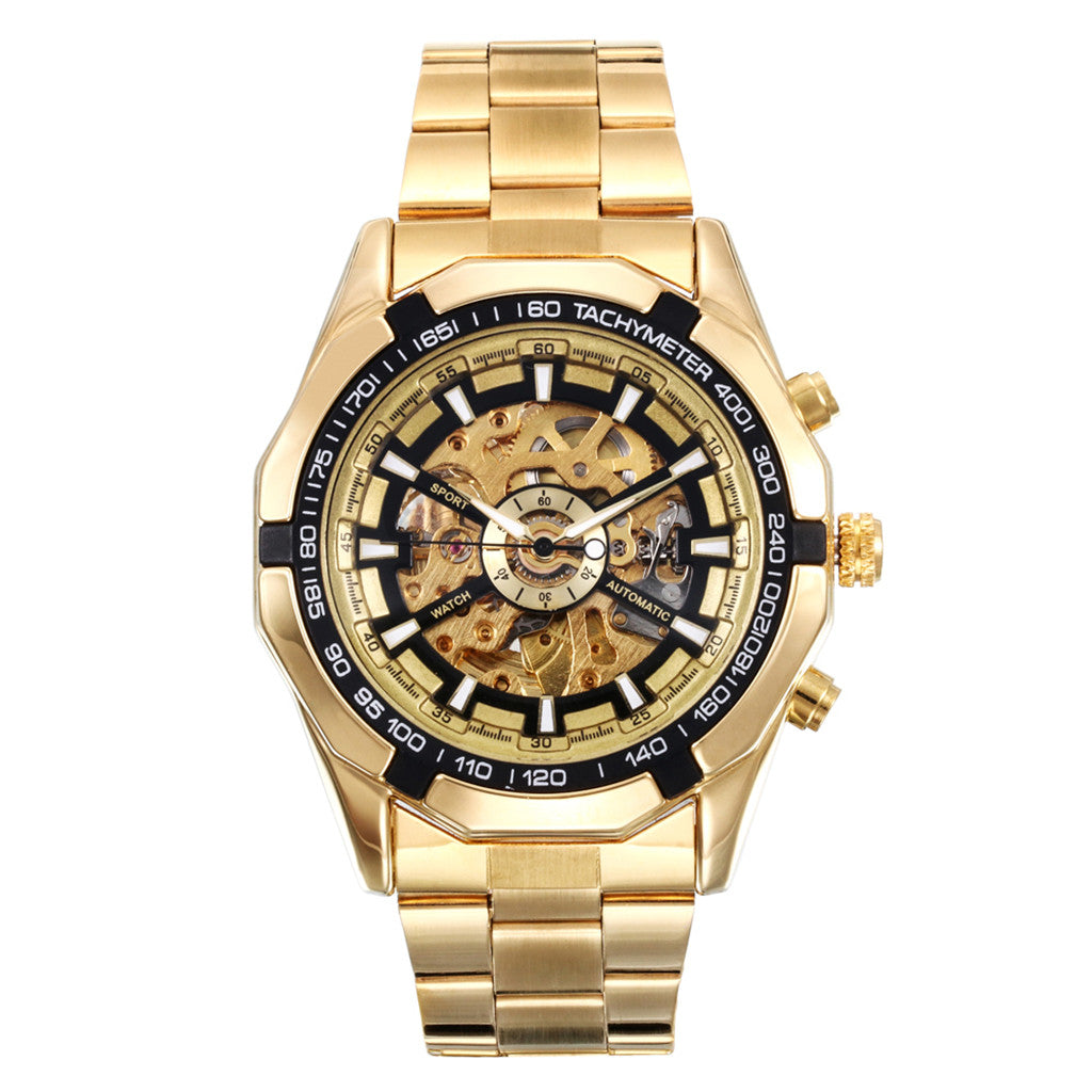 Gold Mechanical Automatic Men's Watch
