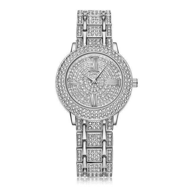 LUXURY CRYSTAL QUARTZ WATCH