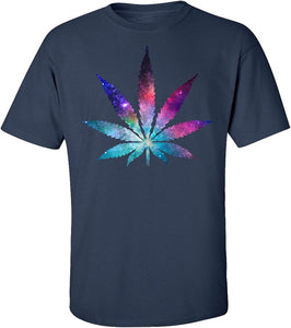 Cannabis Leaf Galaxy Short Sleeve T-Shirt