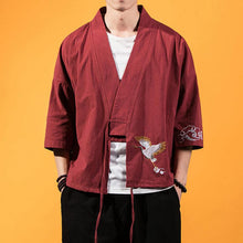 Load image into Gallery viewer, Kimono Linen Shirts Traditional Chinese Clothing - Summer Shirt Japanese Clothes Hemp Linen