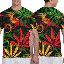 Load image into Gallery viewer, Colored Cannabis Leaves Fashion Tshirt