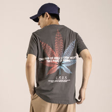 Load image into Gallery viewer, FMZXG summer trend brand color hemp leaf printing short sleeve T-shirt for men'