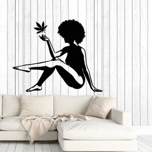 Cannabis Woman Wall Decal