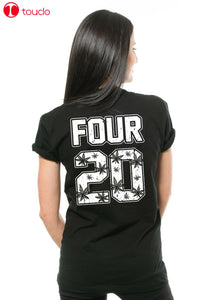 Four 20 - Weed Cannabis 420 T-Shirt Thc T-Shirt Funny Marijuana Fashion Shirt