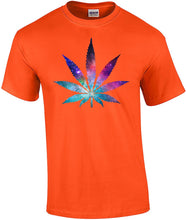 Load image into Gallery viewer, Cannabis Leaf Galaxy Short Sleeve T-Shirt