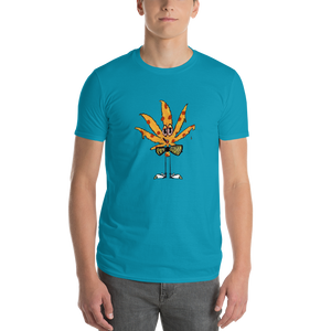 Pot Squad Cannabis Pizza Leaf - Short-Sleeve T-Shirt