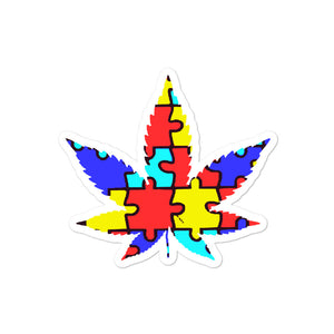 Autism and Cannabis - Bubble-free stickers