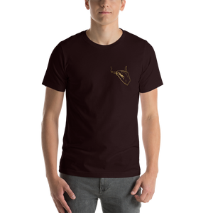 Pocket Cannasseur in Gold - Short-Sleeve Unisex T-Shirt