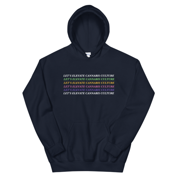 """Let's Elevate Cannabis Culture"" Cozy Hoodie"