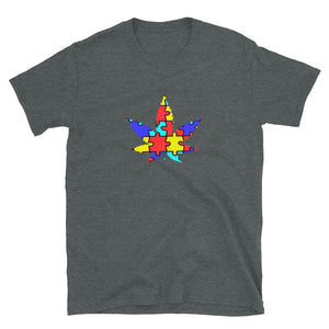 Autism and Cannabis - Short-Sleeve Unisex T-Shirt