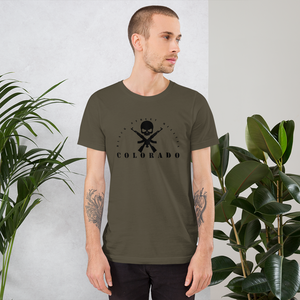 Black Street Militia Colorado - Short-Sleeve Unisex T-Shirt