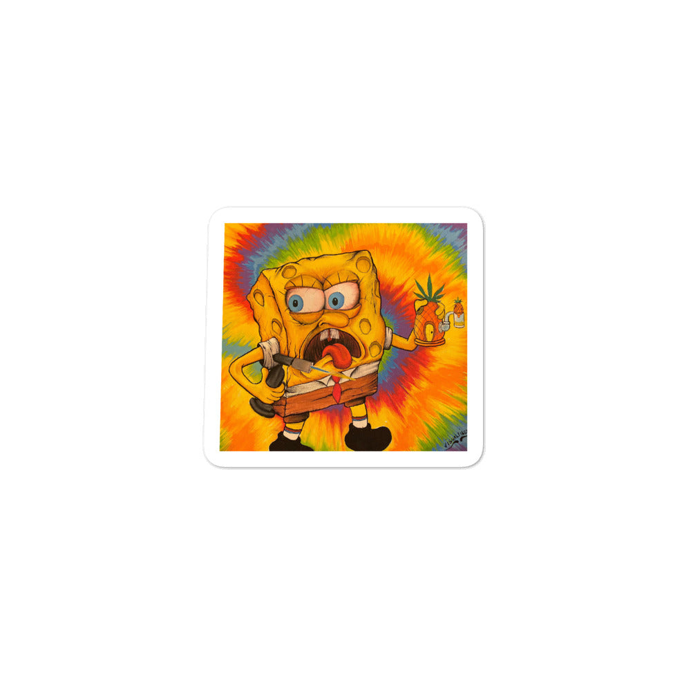 Spongebob Dab - Visual Fiber - Bubble-free stickers