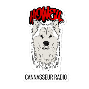 White Wolf - Cannasseur Radio - Bubble-free stickers