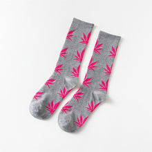 Load image into Gallery viewer, Funny Socks Men Comfortable High Quality Cotton Happy Marijuana Leaf Maple Casual Long Weed Crew Sock Hip Hop Dress Harajuku