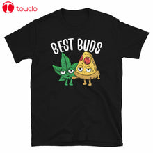 Load image into Gallery viewer, Cannabis Pizza Best Buds Marijuana 420 Weed Smoke Stoner Funny Black T-Shirt