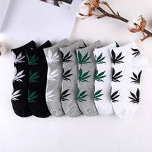 Load image into Gallery viewer, 1 pair Men's Fashion Business Ankle Socks Weed Hemp Cotton Socks Street Fashion Skateboard Couple Women  Harajuku Trend Socks
