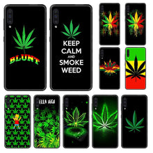 Load image into Gallery viewer, plant Cannabis leaf tpu waterproof bumper black Phone case For Samsung Galaxy A 3 5 6 7 8 20 40 50 70 71 E S Plus 2016 2017 2018