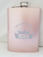 Load image into Gallery viewer, 8oz Asher House Stainless Steel Flask