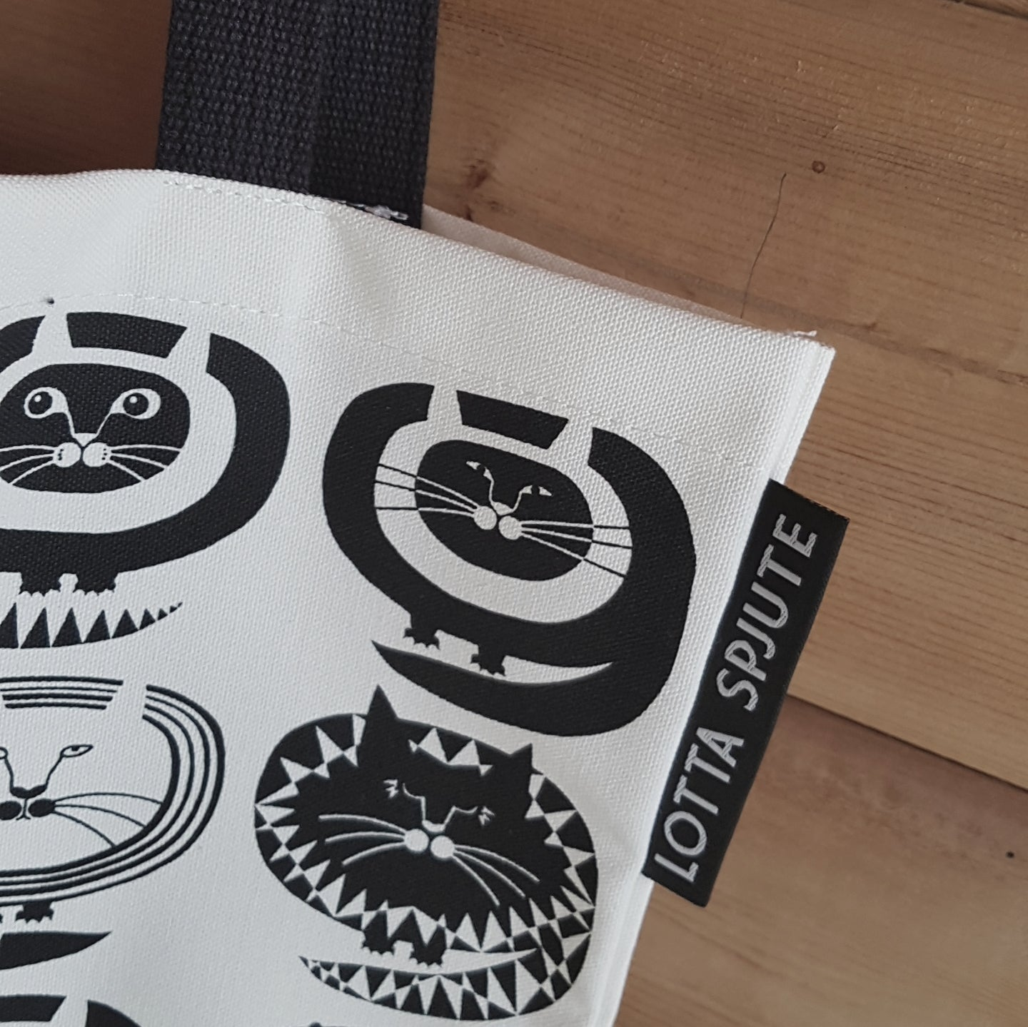 COTTON CANVAS CAT TOTE