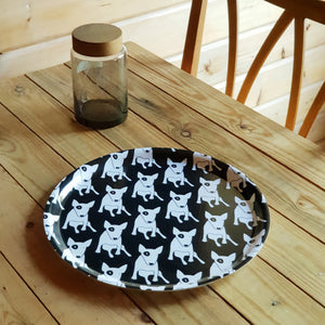 SWEDISH BIRCHWOOD TRAY BULLTERRIER