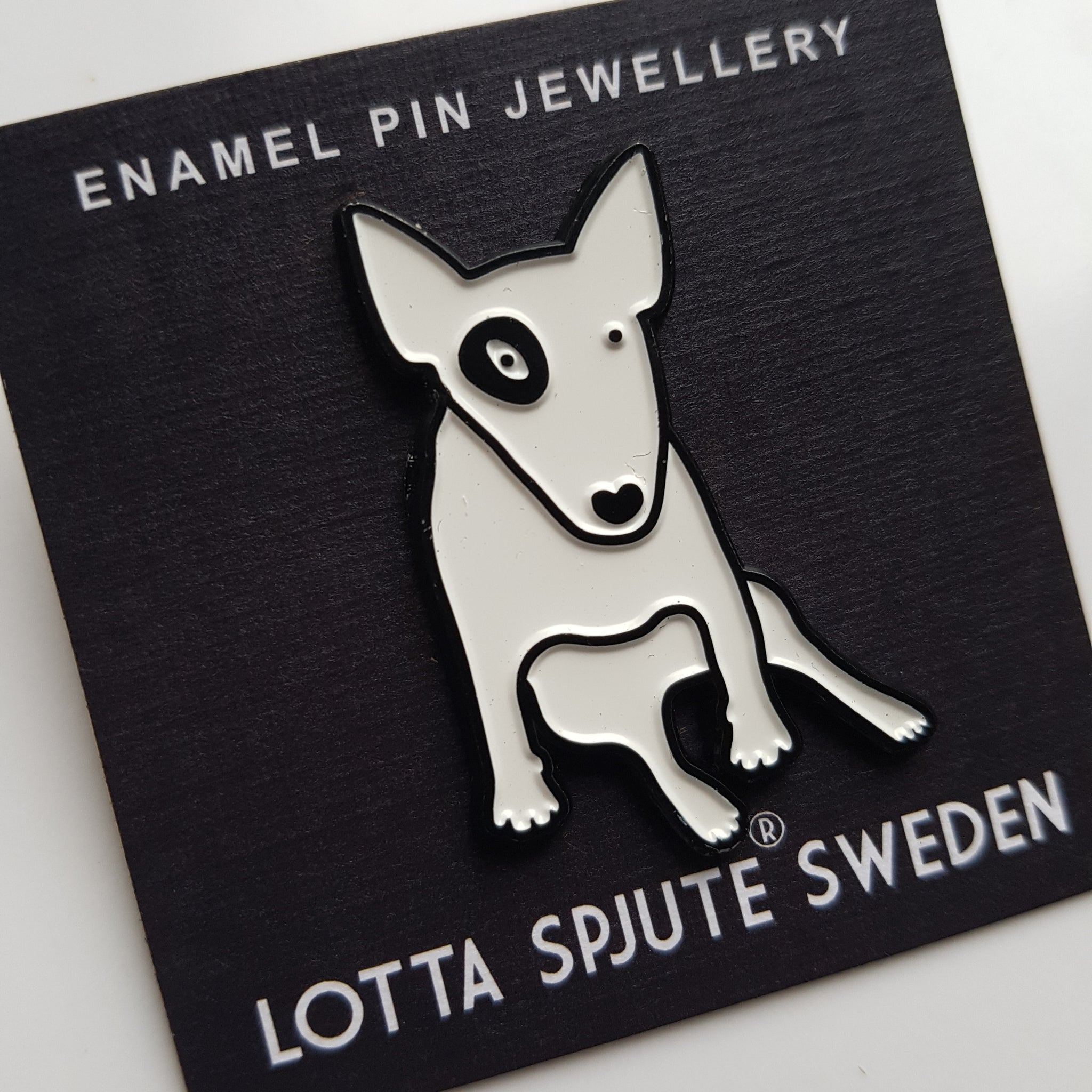 ENAMEL PIN JEWELLERY - BULL TERRIER