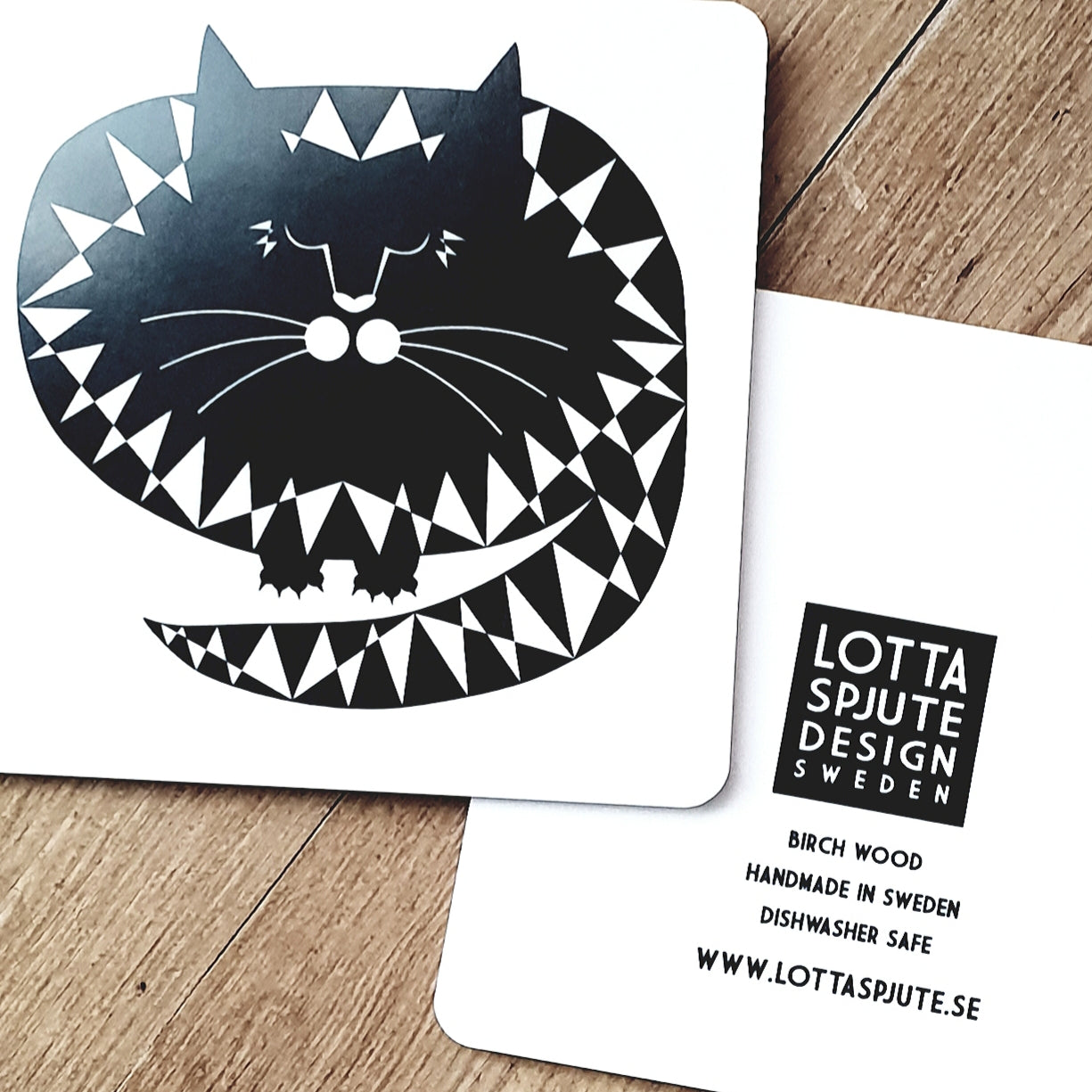 CAT COASTER IN SWEDISH BIRCHWOOD