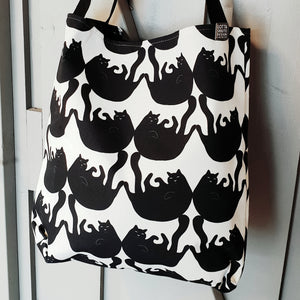 XL CANVAS TOTE BAG SILLY BILLY CAT